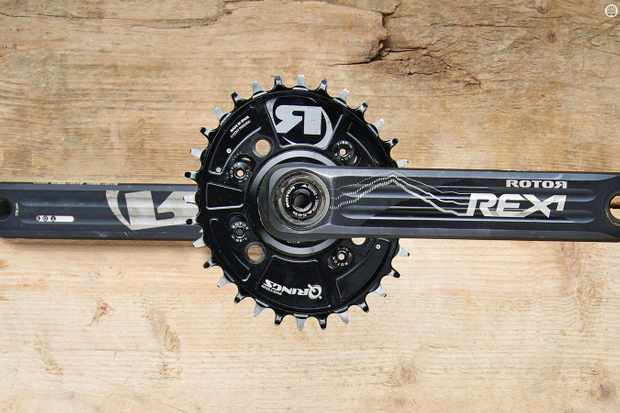 Despite their single-sided limits, Rotor's Rex 1.1 INpower power meter cranks make an impressive unit
