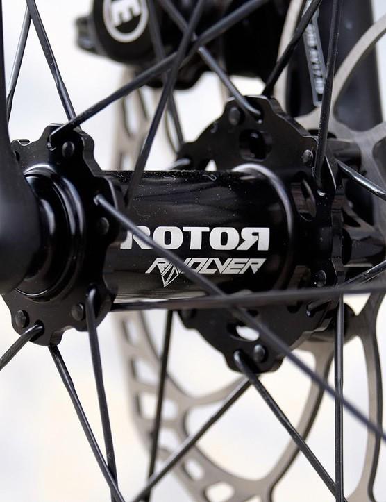 Rotor's Rvolver hubs use large bearings from supplier Enduro