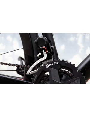 The front derailleur uses four trim positions, meaning you'll have to shift it twice as often as most