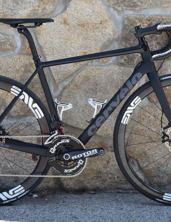 This Cervelo R3 Disc was our Rotor UNO testbed