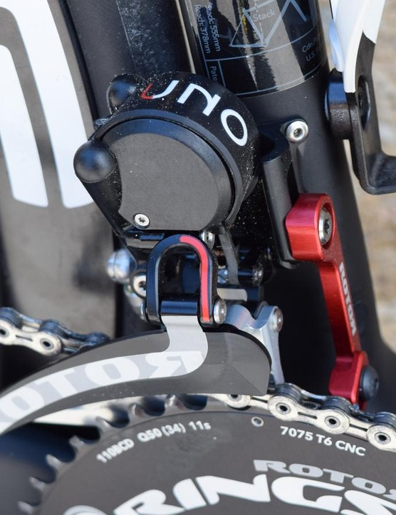 Our test ride seemed to indicate that front shifting was the groupset's biggest weakness. Nevertheless, the front derailleur is a beautifully constructed object
