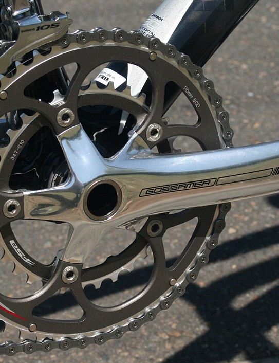 Compact chainset gives the bike its name and helps hugely with hills