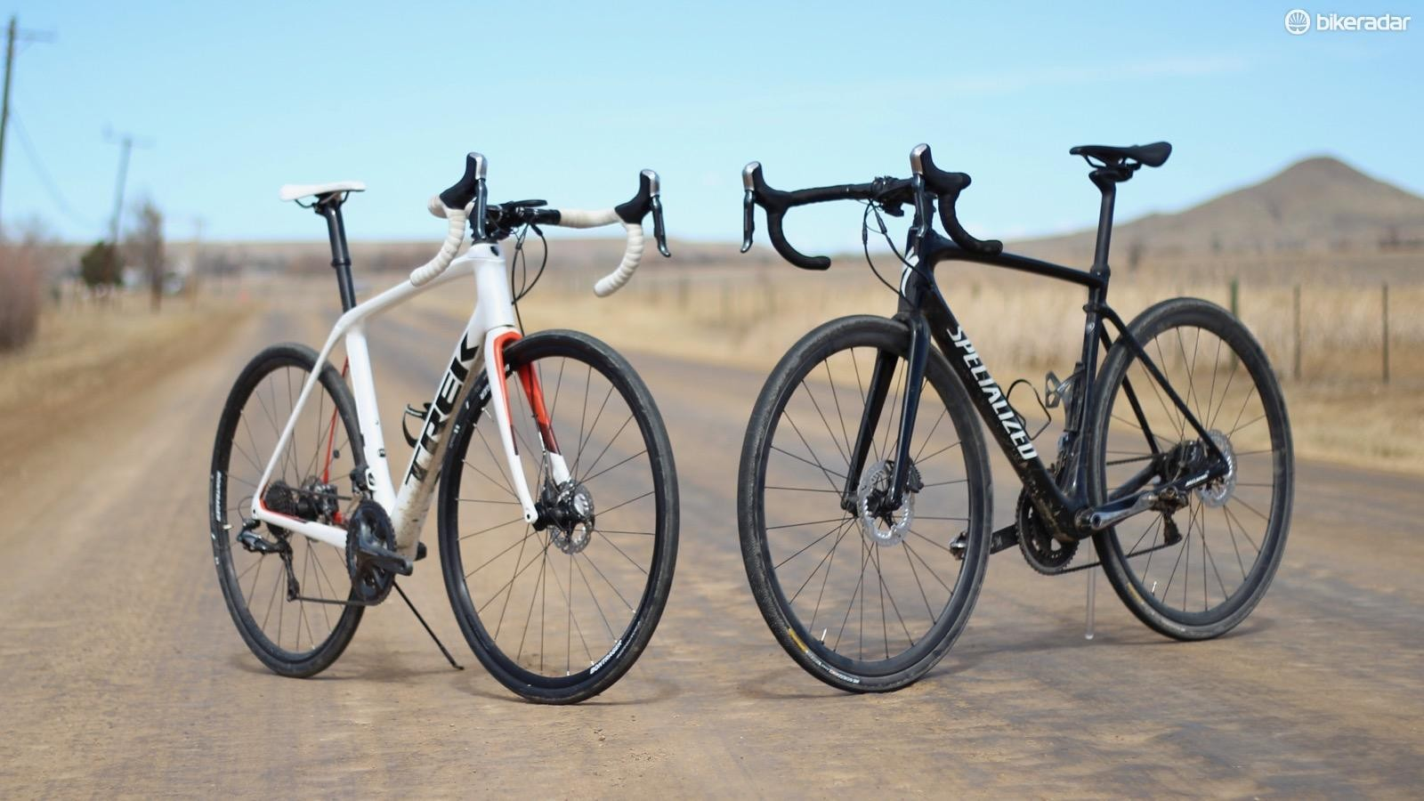 The Trek Domane SLR and the Specialized Roubaix are the two heavyweights for plush endurance rides on varied road surfaces