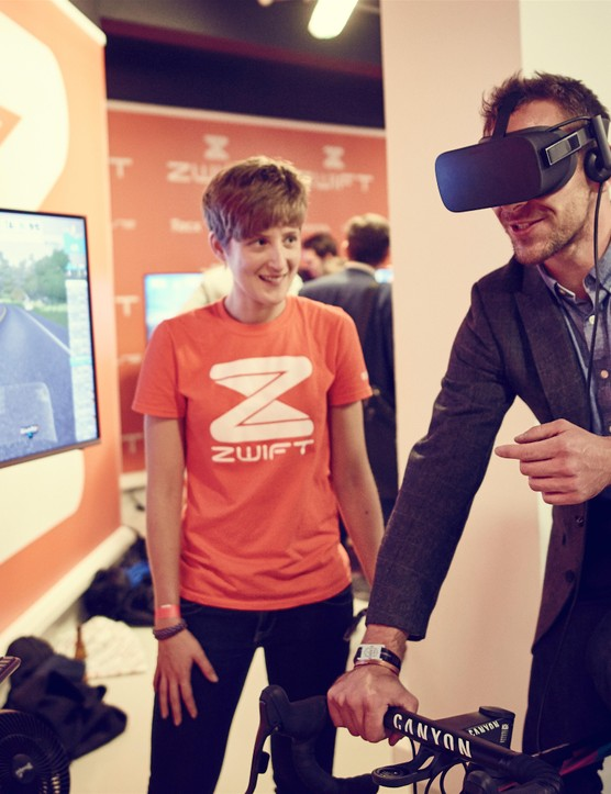 Bringing the outdoors in with Zwift's virtual reality experience