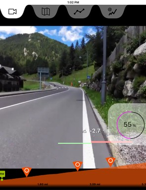 Rouvy uses POV video tied to your effort and gradient
