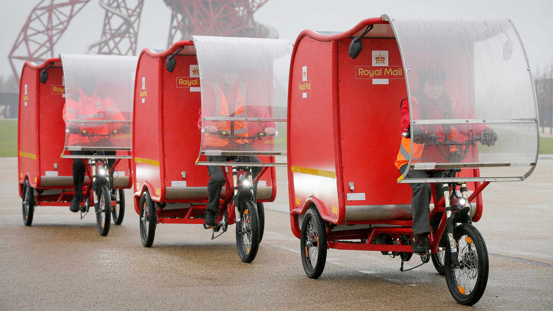 The Royal Mail will be rolling out a trial of eight e-equipped trikes across the UK