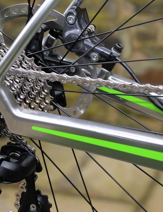 There's a 105 drivetrain, FSA Gossamer chainset and Boardman wheelset and finishing kit