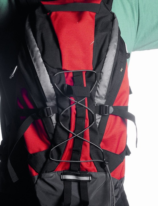 Rucksacks spread the load evenly.