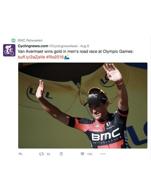 ...but all BMC Bicycles could do was retweet Cyclingnews