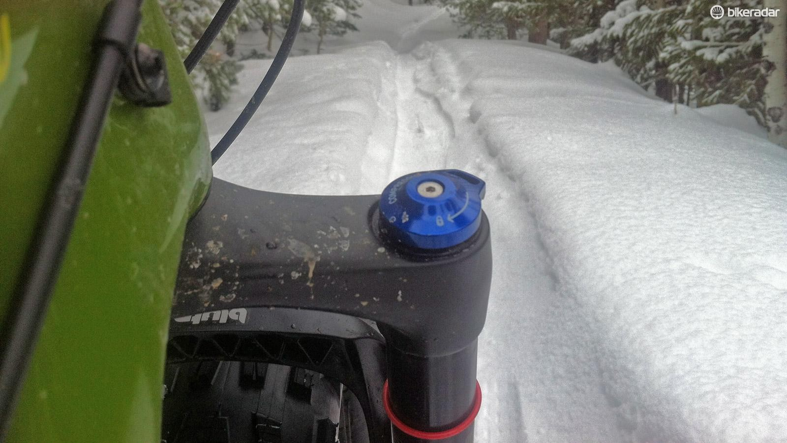 Russell's local trails are snowpacked