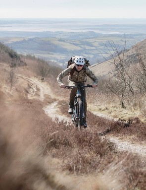 Russell travels the UK as a mountain bike photographer, loaded up with all his photography gear