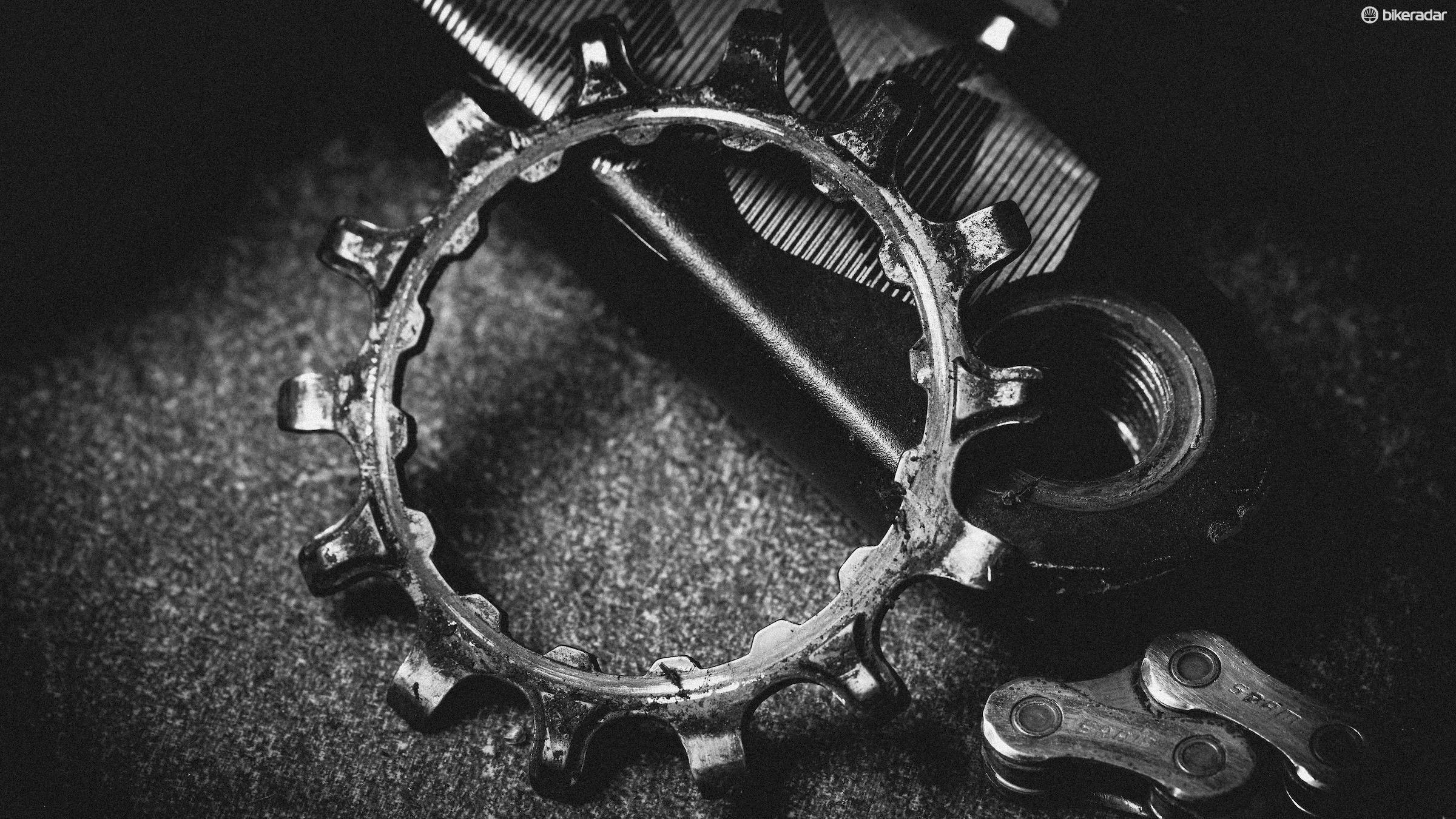 The smaller chainrings take some wear, but are easy and cheap to replace
