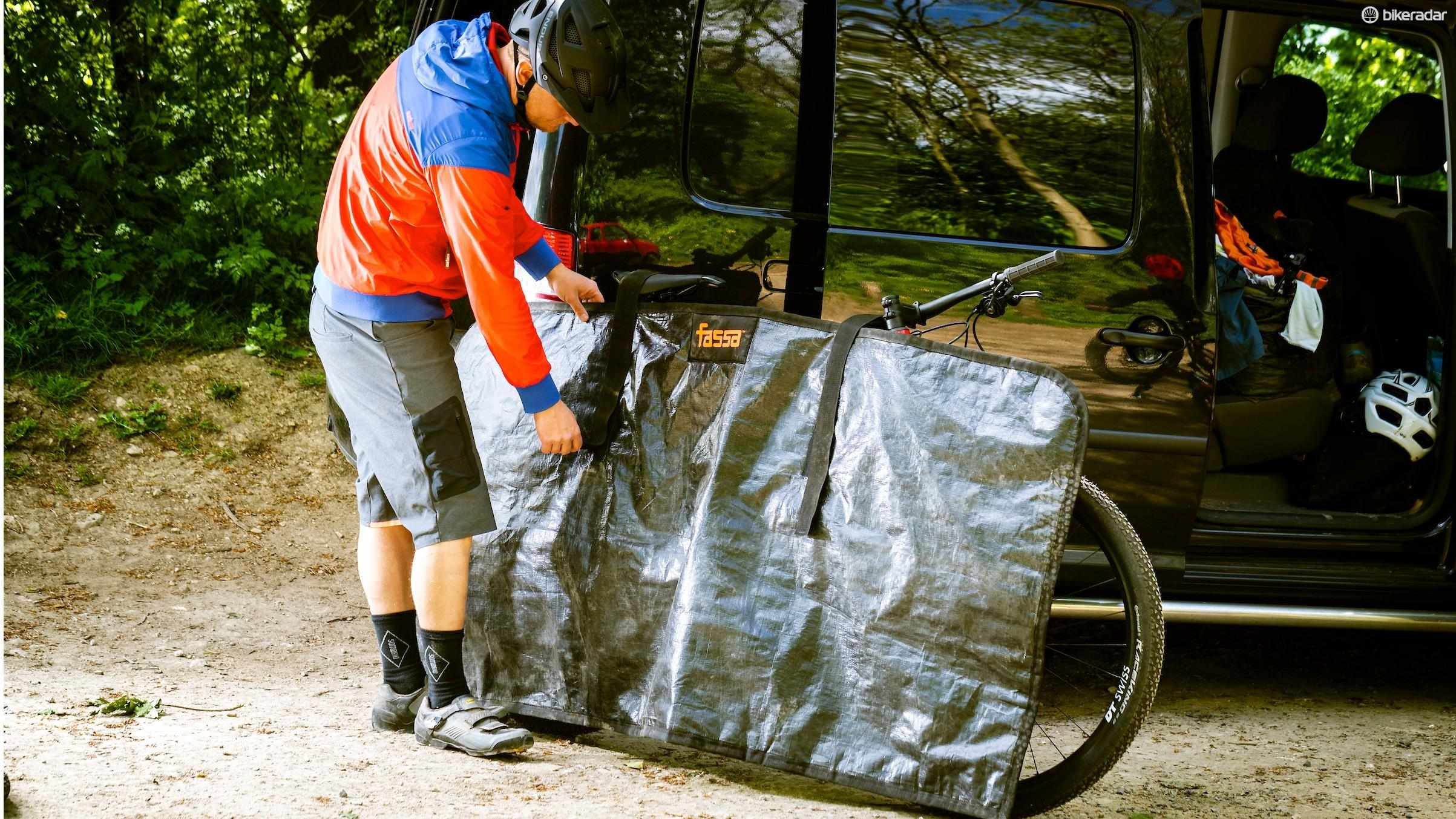 The size means it easily covers all the important bits of your bike