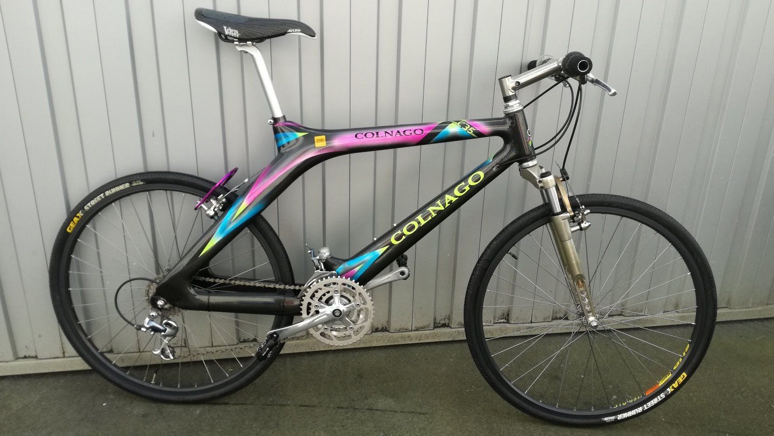 This Colnago C35 mountain bike was one of the first carbon mountain bikes
