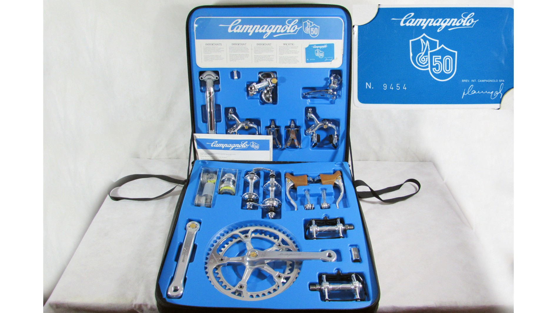 Campagnolo celebrated its 50th anniversary by releasing this seriously lush, limited edition groupset