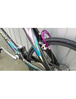 A purple anodised brake booster has found its way onto the bike