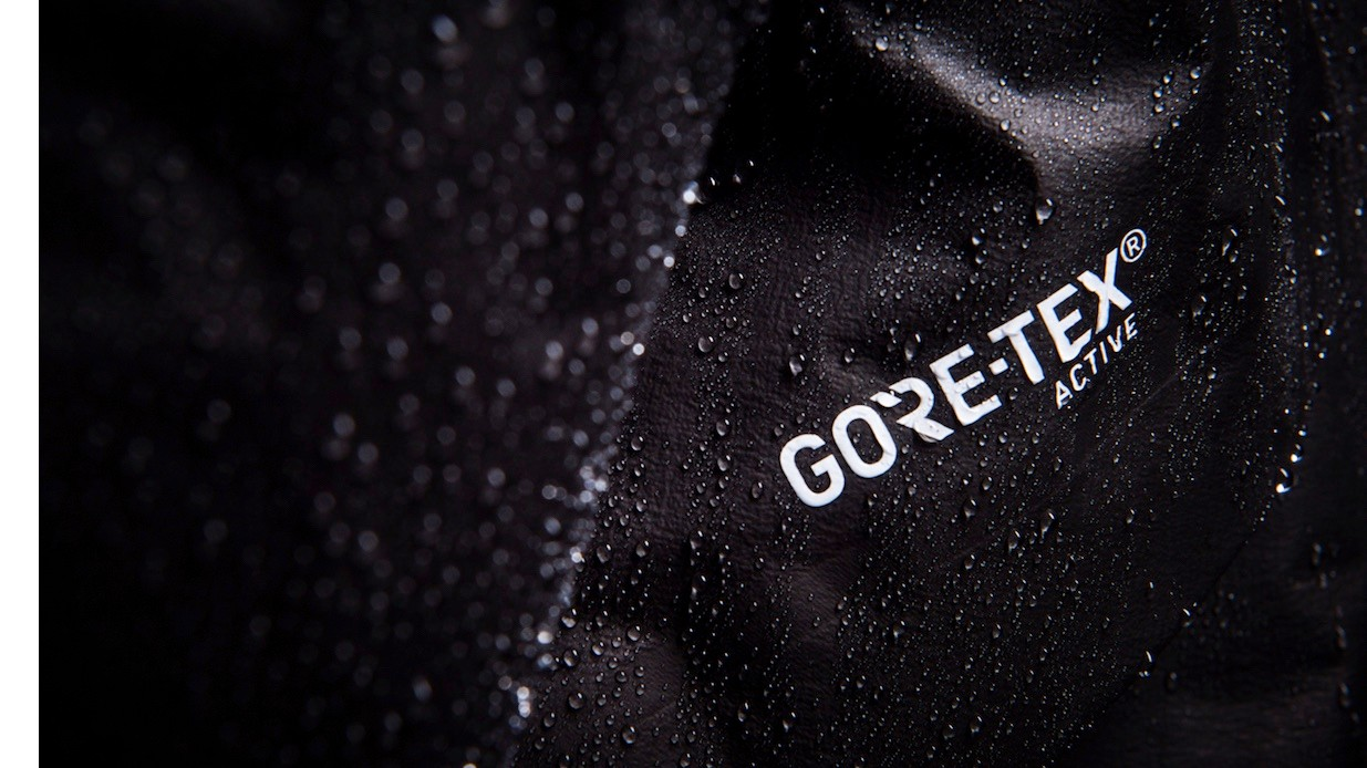 The Active material is hyper-light and thin, without the face material that past Gore-Tex waterproof fabrics had (and many still have)