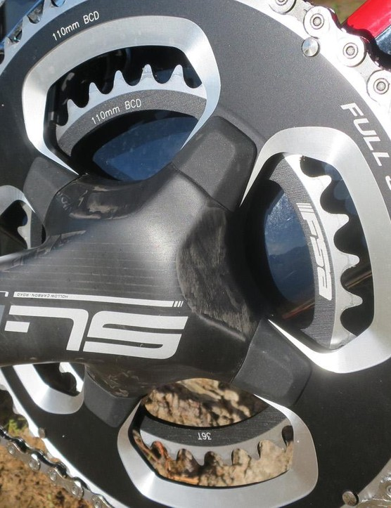 The new all-carbon FSA Sl-K chainset comes as standard on the S3