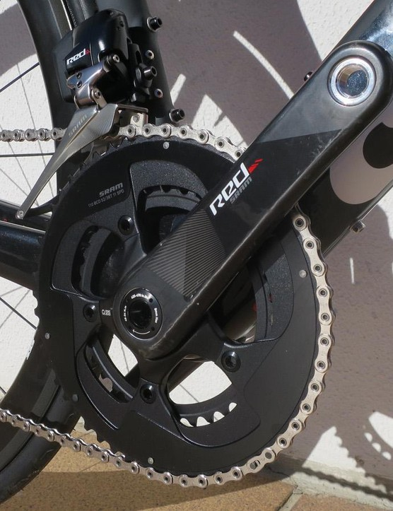 SRAM's Red eTap wireless electronic groupset adorns the flagship S5