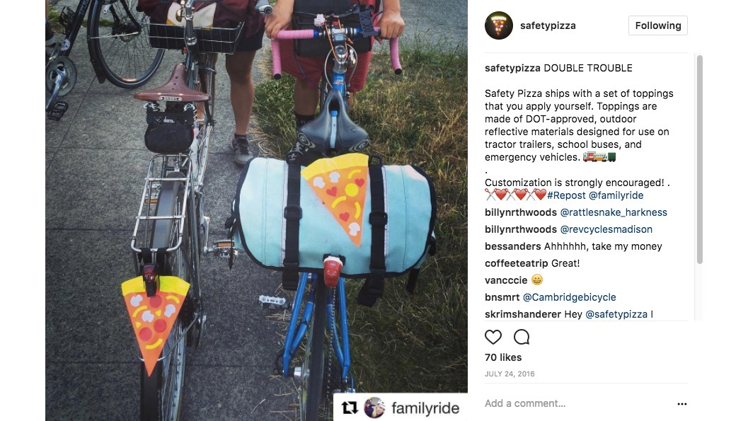 Some of the trendiest Instagrammers out there have adopted the Safety Pizza