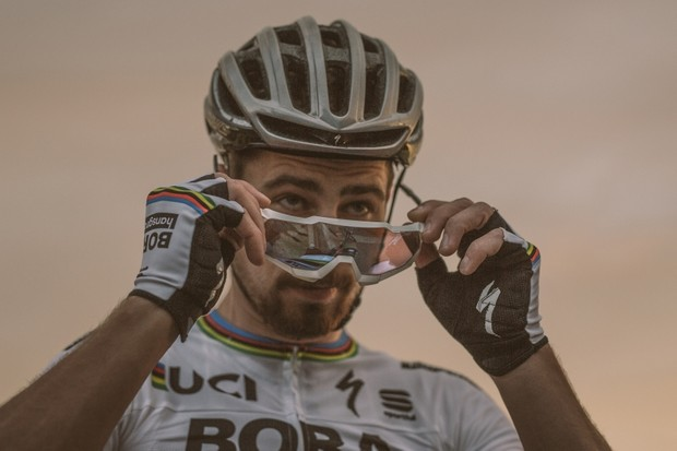 Peter Sagan could win bike races wearing Harry Potter's spectacles, but 100%'s aesthetic seems more appropriate