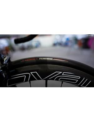 Sagan runs 26mm S-Works Turbo tubular tyres