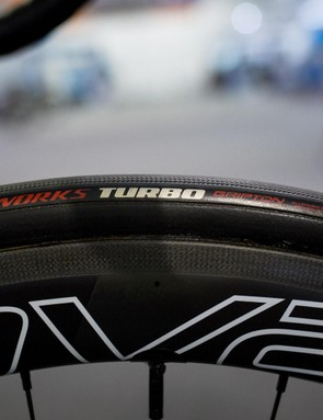 Sagan runs 26mm S-Works Turbo tubular tyres