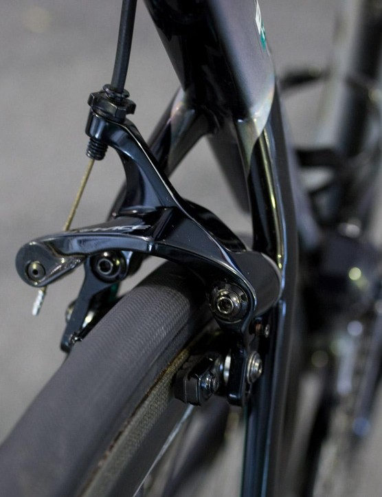 The 2018 Tarmac features direct  mount brakes front and rear