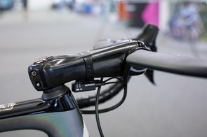 Sagan runs a masked Zipp SL Sprint carbon stem