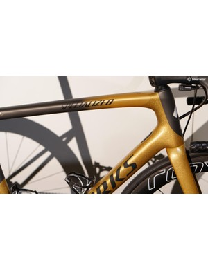 The bikes are a mix of the flat gold, glitter gold and black finishes