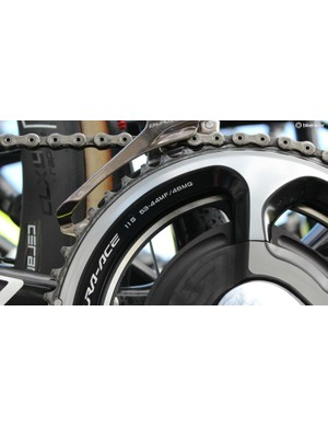 Sagan's Specialized S-Works Roubaix had meaty gears
