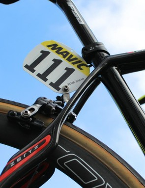 While riders have multiple (and often identical) bikes, they are only issued one race number per event