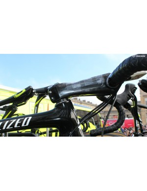 As is the tradition, Sagan had the cobble sectors taped to his stem