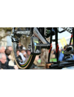 Sagan has his own logo, which often pops up on his gear