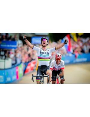 Peter Sagan wearing his S2s to glory at Paris-Roubaix