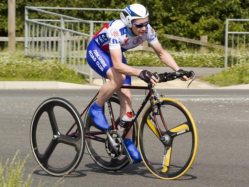 Carl Saint added another trike record to his collection