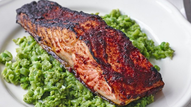 This spiced salmon recipe is a great way to prepare the tasty oily fish