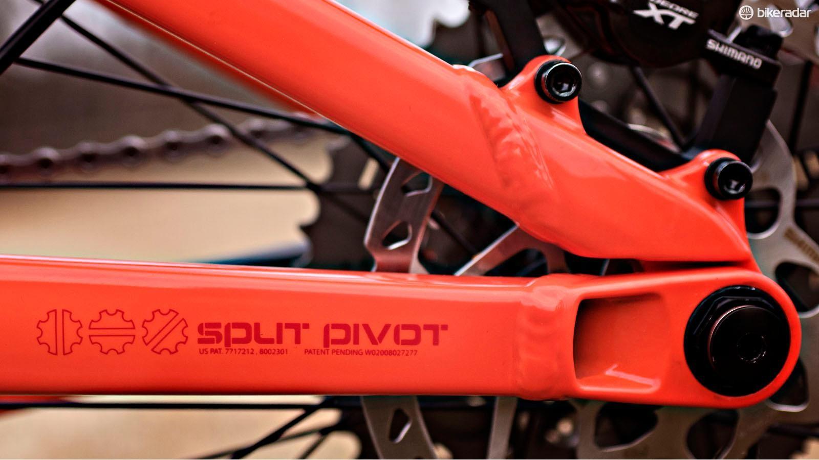 The Deadwood SUS relies on the Split Pivot suspension system