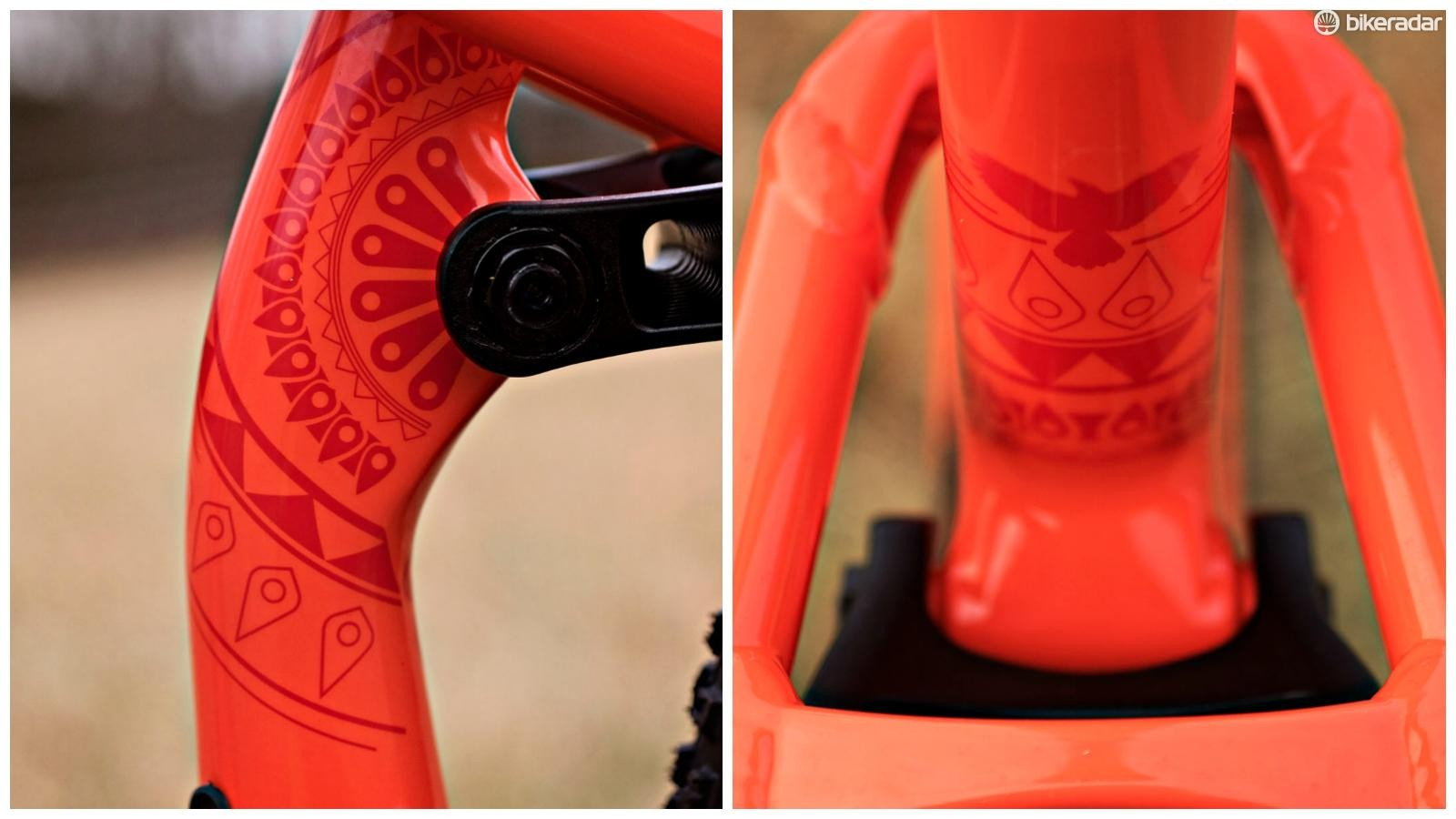 #Fun fact: the artwork on the Deadwood's seat tube is intended to mimic the intricate designs shaved into the fur of camels