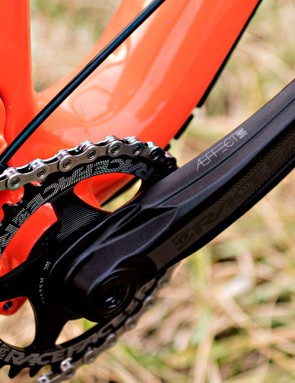 The Deadwood can take a direct-mount front derailleur, though all the models come with 1x drivetrains