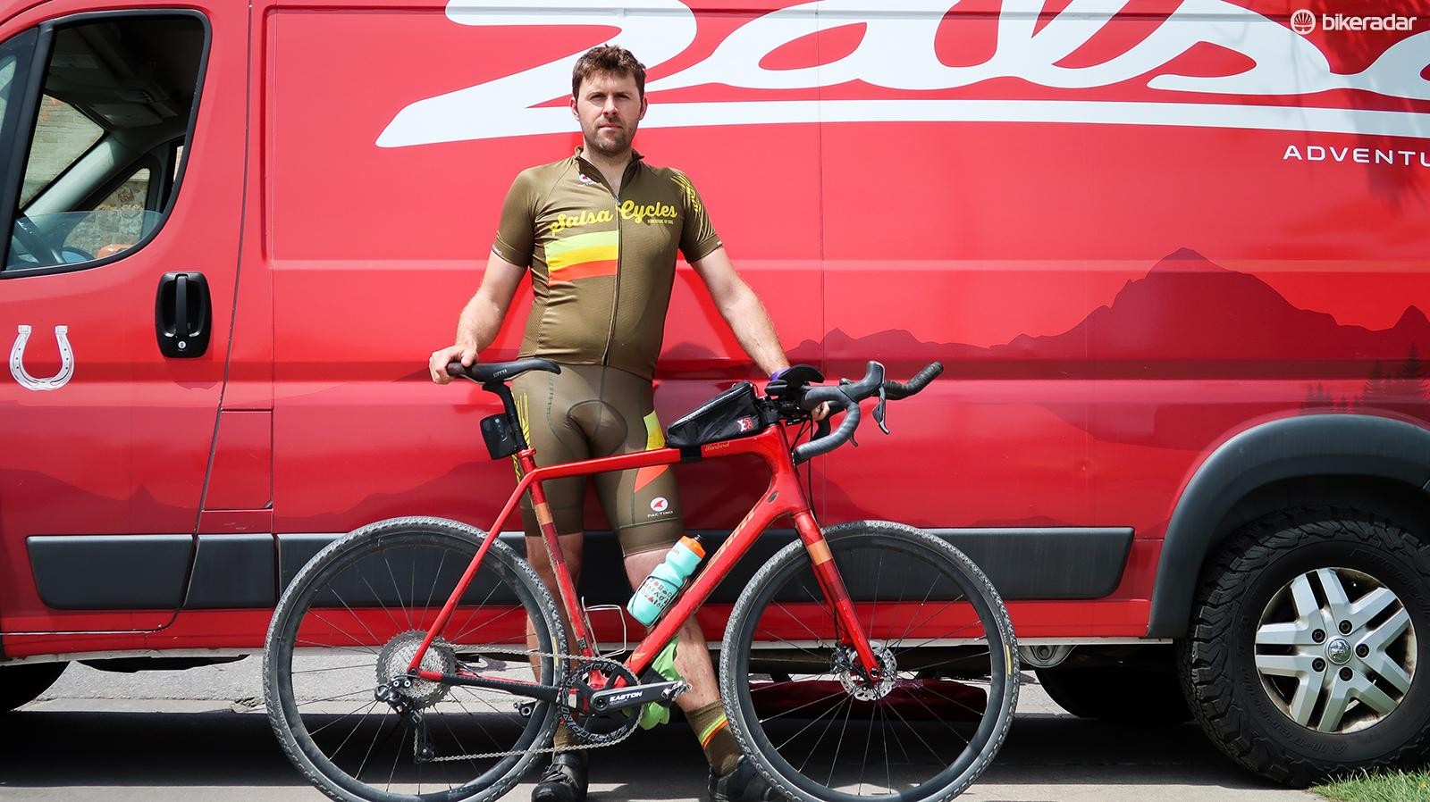 Salsa's manager of product development Joe Meiser rode his Warbird to his fifth DK200 finish