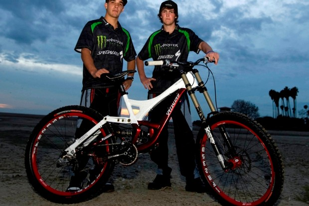 Team Monster Energy riders Sam Hill and Brendan Fairclough will ride Specialized bikes in 2009