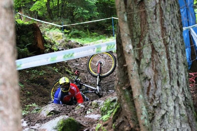 Crashing on the downhill