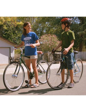 Biking to school saves time, keeps cars off the road, and provides exercise for children.