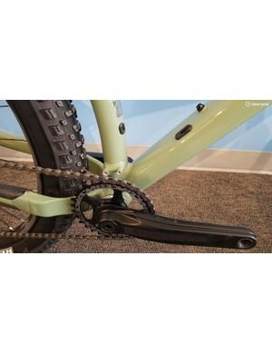 The Chameleon can accept a low-direct mount front derailleur
