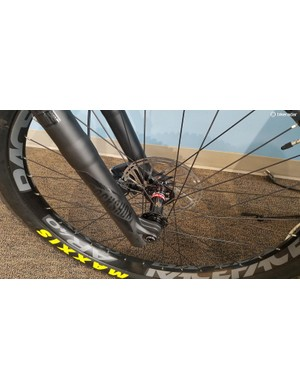 These 40mm-wide Race Face AR 40 rims seem like a good fit for this new trail hardtail