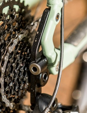 Whatever dropouts you choose they can be adjusted fore and aft by 15mm to micro adjust chain tension and/or your chosen chainstay length