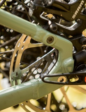 At the far end of the bike you can fit five different pairs of dropout section. 148x12mm Boost dropouts in both 29er and 8mm higher axle 27.5in Plus versions and then the same wheel offerings but without a gear hanger for singlespeed use and in 142x12mm width (because there are very few 148mm singlespeed hubs)
