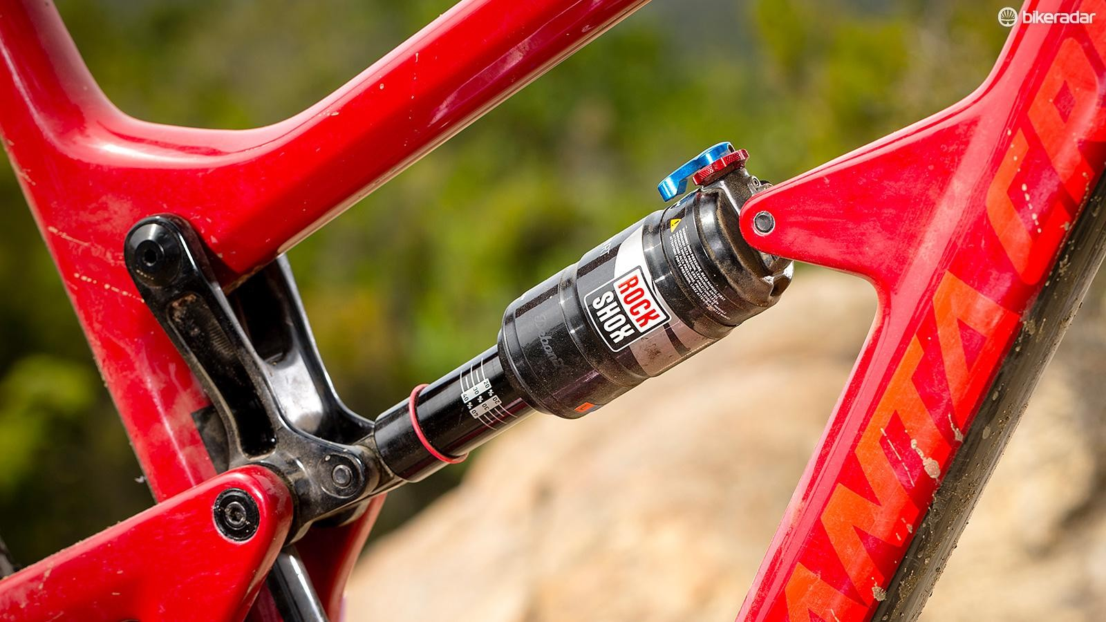 The Virtual Pivot Point suspension rewards pedalling inputs, but isn't the most compliant