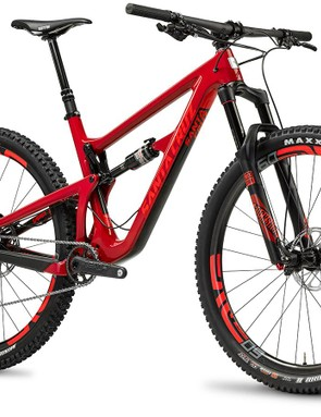 The Hightower has 135mm of rear suspension travel and is compatible with 140-150mm forks